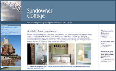 Sundowner Cottage web site